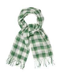 Étoile Isabel Marant   Green Checkered Fringe Scarf   Lyst