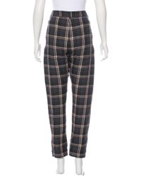Étoile Isabel Marant | Blue Umber Flannel Check High-rise Pants W/ Tags | Lyst
