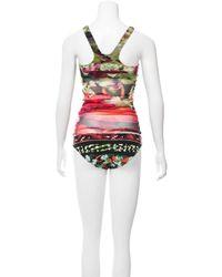 Jean Paul Gaultier - Green Butterfly Print Two-piece Swimsuit W/ Tags - Lyst