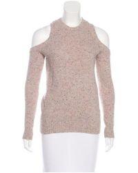 Rebecca Minkoff - Pink Merino Wool-blend Knit Sweater - Lyst