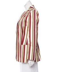 Loro Piana - Red Striped Notch-lapel Blazer - Lyst