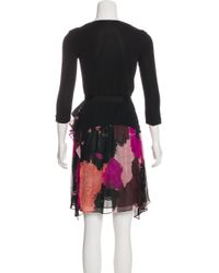 Diane von Furstenberg - Black Riviera Mini Dress - Lyst