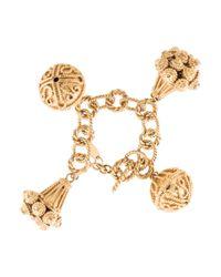 Loewe | Metallic Charm Bracelet Gold | Lyst