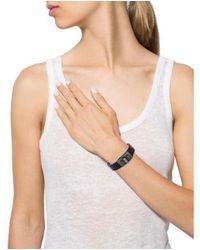 Chanel - Black Turn-lock Leather Bracelet - Lyst
