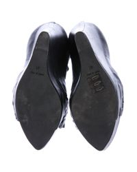 Givenchy - Black Leather Platform Wedges - Lyst