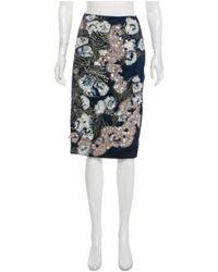 Michael van der Ham - Blue Embellished Asymmetrical Skirt - Lyst