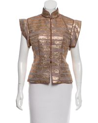Louis Vuitton - Metallic Knit Vest Gold - Lyst