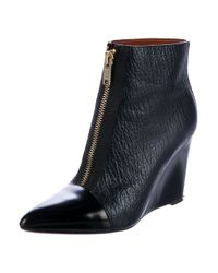 Marc Jacobs - Metallic By Cap-toe Wedge Ankle Boots - Lyst