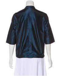 Akris - Blue Lightweight Button-up Jacket - Lyst