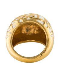 Kate Spade - Metallic Enamel Ring Gold - Lyst