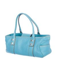 MICHAEL Michael Kors - Metallic Michael Kors Greenwich East/west Shopper Blue - Lyst