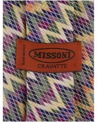 Missoni - Blue Printed Silk Tie for Men - Lyst