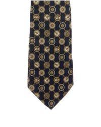 Chanel - Metallic Chain-link Cc Silk Tie Navy for Men - Lyst