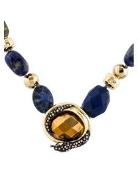 Alexis Bittar - Metallic Sodalite, Labradorite & Crystal Beaded Necklace Gold - Lyst