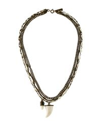 Isabel Marant - Metallic Formentara Horn Necklace Brass - Lyst