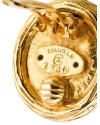 Chanel - Metallic Pearl Clip-on Earrings - Lyst