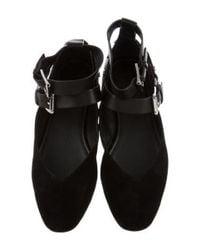Rebecca Minkoff - Black Round-toe Ankle Strap Flats - Lyst