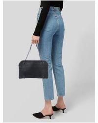 Bottega Veneta - Black Duo Grained Leather Shoulder Bag - Lyst
