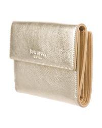 Kate Spade - Metallic Leather Wallet - Lyst