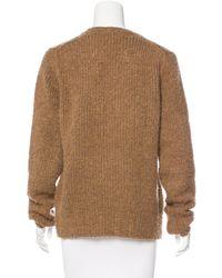 Dries Van Noten - Wool Textured Sweater Brown - Lyst
