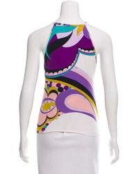 Emilio Pucci - White Sleeveless Printed Top - Lyst