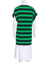 Michael Kors - Blue Cashmere Striped Tunic Navy - Lyst
