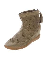 Isabel Marant - Green Basley Suede Ankle Boots Olive - Lyst