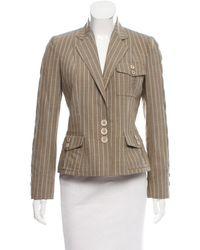 Dior - Natural Pinstriped Wool Blazer Beige - Lyst