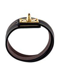 Givenchy - Metallic Shark Lock Wrap Bracelet Black - Lyst