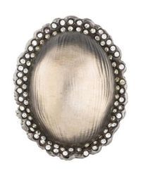 Alexis Bittar - Metallic Lucite & Crystal Cocktail Ring Silver - Lyst