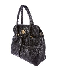 Marc Jacobs - Metallic Quilted Ryder Bag Black - Lyst