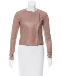 VEDA - Brown Lightweight Leather Jacket W/ Tags - Lyst