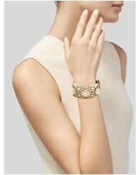 Chanel - Metallic Faux Pearl & Crystal Star Hinged Cuff Gold - Lyst