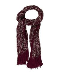Marc Jacobs - Purple Paisley Print Scarf - Lyst