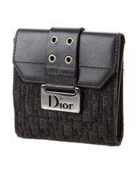 Dior - Black Diorissimo Compact Wallet - Lyst