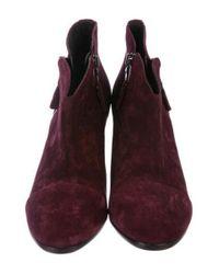 Rag & Bone - Red Margot Suede Ankle Boots Burgundy - Lyst