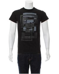 Dior Homme - Black Geometric Graphic T-shirt for Men - Lyst