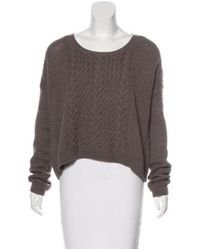 Alice + Olivia - Multicolor Cable Knit Sweater - Lyst
