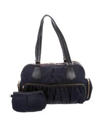 MZ Wallace - Metallic Bedford Jane Shoulder Bag Navy - Lyst
