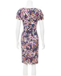 Erdem - Purple Floral Knee-length Dress Multicolor - Lyst