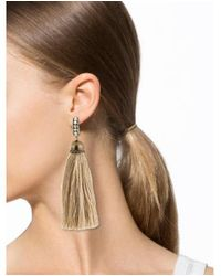 Lanvin - Metallic Crystal Tassel Earrings Brass - Lyst
