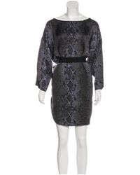Stella McCartney - Black Silk Printed Mini Dress - Lyst