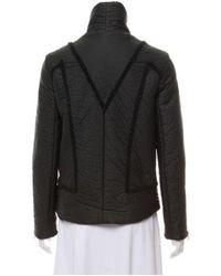 Helmut Lang - Black Mock Neck Long Sleeve Jacket - Lyst