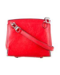 Alexander Wang - Metallic Marion Crossbody Bag Red - Lyst