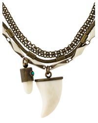 Isabel Marant | Metallic Formentara Horn Necklace Brass | Lyst