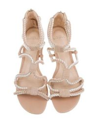 Alexandre Birman - Natural Woven Leather Sandals Nude - Lyst