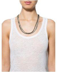 Brunello Cucinelli - Metallic Adjustable Beaded Necklace Silver - Lyst