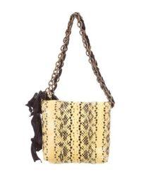 Lanvin - Yellow Mini Python Happy Bag - Lyst