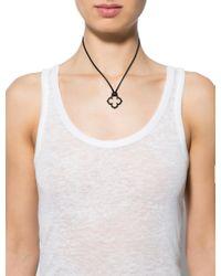 Cartier | Metallic Quatrefoil Pendant Necklace White | Lyst