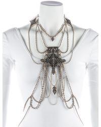 Jean Paul Gaultier - Metallic Les Tatouages Body Chain Silver - Lyst